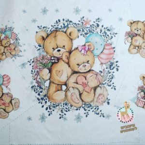 חבילת פאנלים לסט למיטה -דובים מתוקים