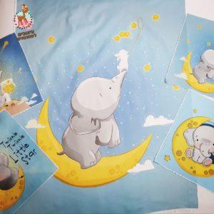 חבילת פאנלים לסט למיטה -פילון על ירח
