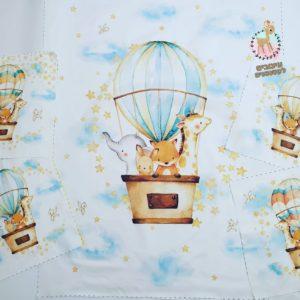 חבילת פאנלים לסט למיטה – כדור פורח עננים תכלת