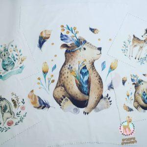 חבילת פאנלים לסט למיטה – חיות היער -דובי