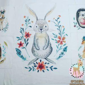 חבילת פאנלים לסט למיטה – חיות היער ארנב