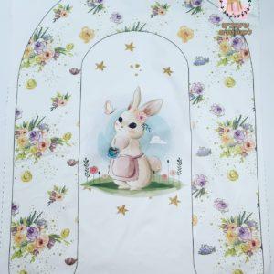 פאנל לבייבי נסט – דגם ארנב פרחים