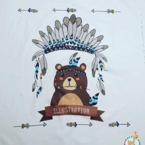 פאנל לשמיכה – איגלו דובי