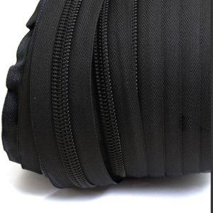 רוכסן לפי מטר רץ -צבע שחור