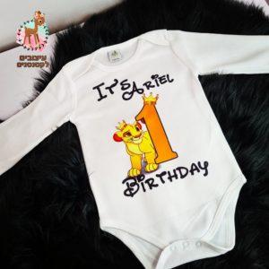 בגד גוף ליום הולדת שנה